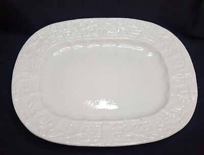 Rare First Black Period (1863 to 1891) Belleek Platter, Institute Pattern