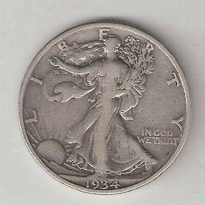 1934S  Liberty Walking Half Dollar(Silver(90%)
