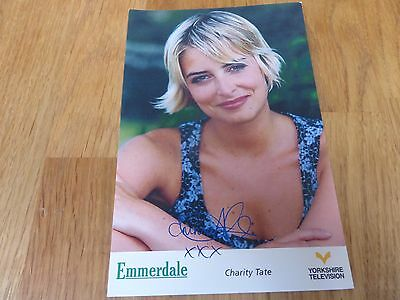 Emmerdale YTV Pre-Printed Signature Cast Card - Charity Tate