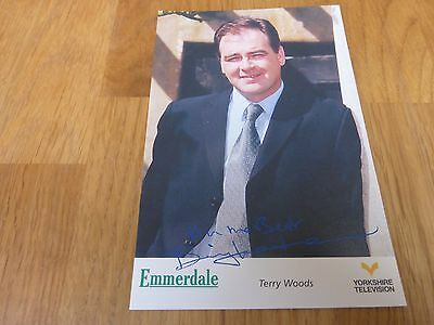 Emmerdale YTV Pre-Printed Signature Cast Card - Terry Woods