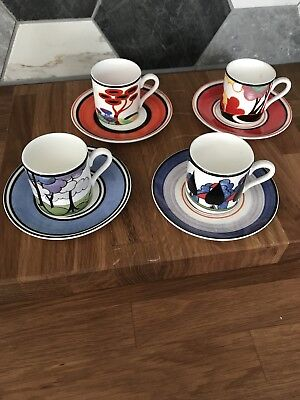 Limited Edition Wedgwood Clarice Cliff coffee cups