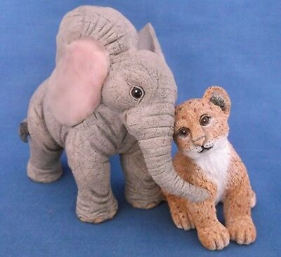 Tuskers Elephant Henry & Kucha Lion Cub Friends Forever Country Artists Figurine