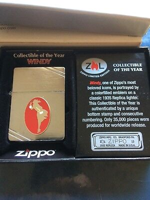 Windy Zippo Limited Edition Collectible Of The Year 2013