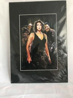 The Walking Dead Maggie Rhee Acrylic On Board Limited Edition Art Work Picture