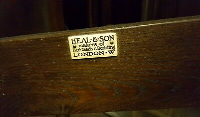 HEALS & SONS 1930s antique single bed