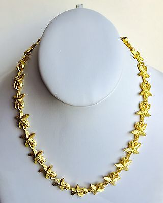 60 Piece Gold Tone Starfish Necklace Lot Wholesale New Old Stock 1980's