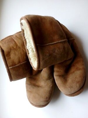 Womens Fawn / Light Brown Short (Mid Calf)  Ugg Boots A Bit Worn 6.5 - FREE POST