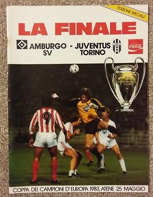 1983 European Cup Final Programme HAMBURG v JUVENTUS (Stadium issue in Italian)