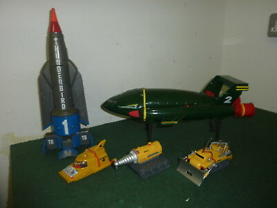 Genuine 1999 Supersize Thunderbird 1 2 4 Mole & Firefly Toys with Sound Affects