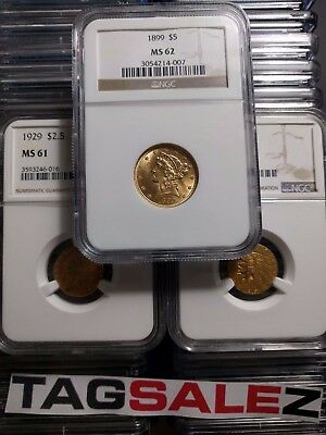 ✯ESTATE SALE OLD US GRADED GOLD COIN✯1 PIECE LOT ✯ $2.5 ✯NGC or PCGS ✯ PRE-1933✯