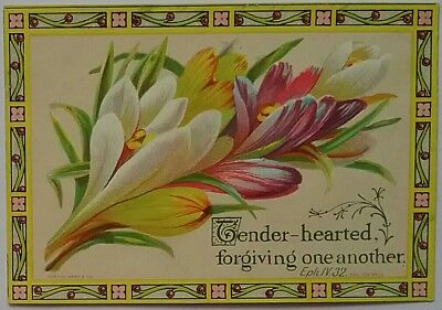 A beautiful, bright  MARCUS WARD  Religious Victorian Card.10x7cms