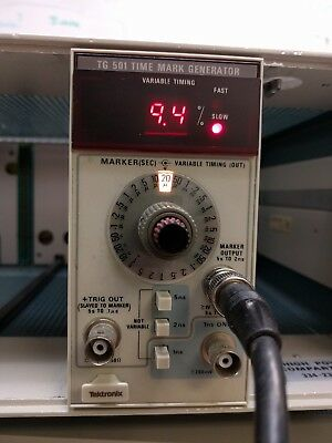 Tektronix TG501 Time Mark Generator Plug In Module - Working