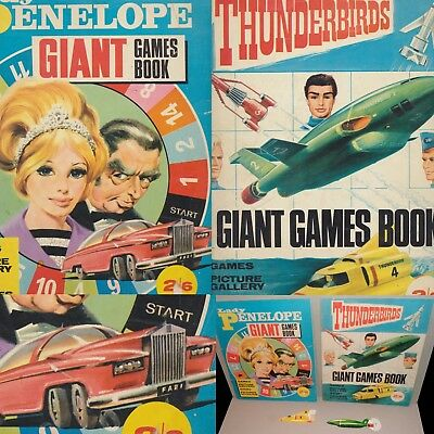 RARE Gerry Anderson 1966 THUNDERBIRDS + LADY P Giant Games Books