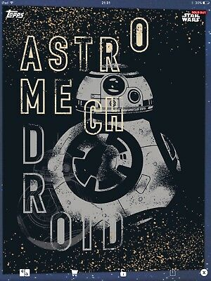 Topps Star Wars Card Trader BB-8 One of a Kind SWCT