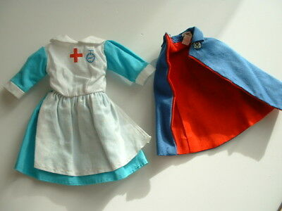 Vintage Sindy size Hong kong nurse outfit with cape