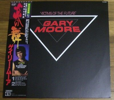 Gary Moore Victims Of The Future Japan Lp Obi Skid Row Thin Lizzy