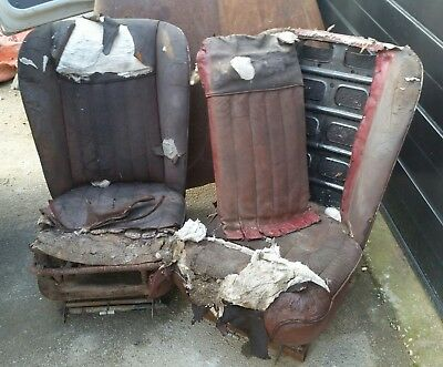 1951 Lanchester LD10, x2 front seats and rear seat base