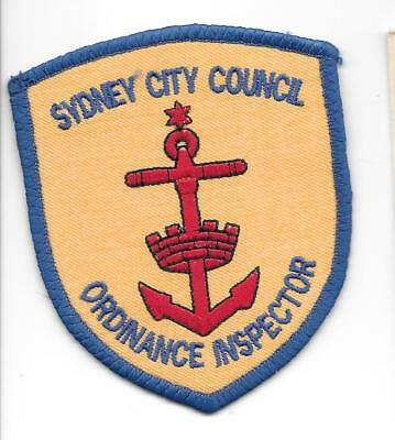 Old Style Obsolete Sydney City Council Ordinance Inspector Police Patch