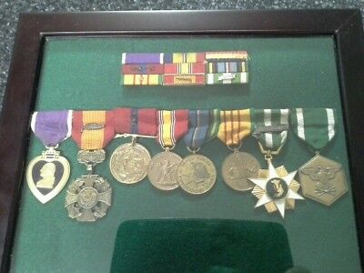 Vietnam Era Medals With Matching Mounted Ribbon Bars