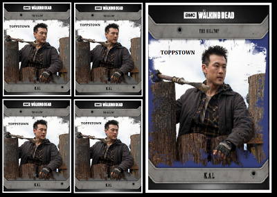 Topps The Walking Dead Card Trader COMMUNITY KAL Blue & Black Digital