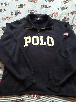 Vintage Polo Sport Ralph Lauren Fleece/Zip/Sweater Size M/L