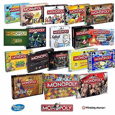 Monopoly Board Game Special Editions Movies Full Range Junior Original Classic