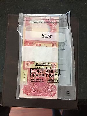 🔥US Treasury Registered 💥UNC Iraqi 4 x 25,000 Dinar Banknotes A+ FEEDBACK