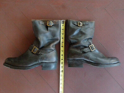 Vintage Motorcycle Boots Engineer Boots 10 E Harley Davidson Triumph Motorcycle