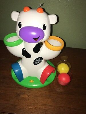 Bright Starts Drop & Giggle Cow New Without Box