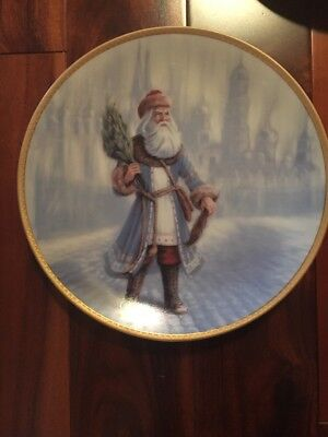 "Duncan Royale Set Of 5 Plates ""history Of Santa""  Limited Edition"