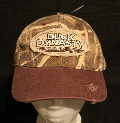 TV's DUCK DYNASTY BROWN CAMO DISTRESSED ADULT STRAPBACK CAP HAT NEW NEVER WORN