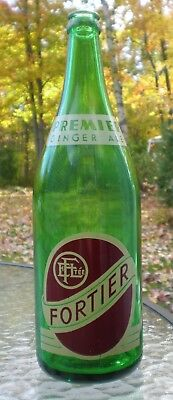 RARE Elz. FORTIER ACL Green Glass Bottle 30 ozs Québec Canada - GREAT condition!