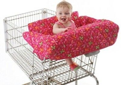 Babe Ease - THE ORIGINAL CLEAN SHOPPER Buggy Cart Cover - Pink Floral/dragonfly