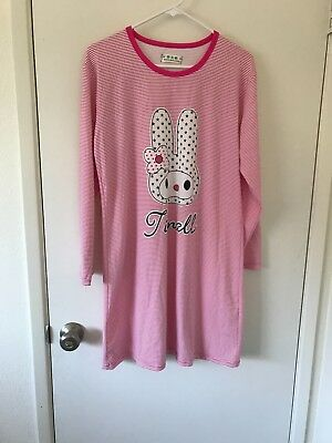 New Women Sleepwear Pajamas Set long Sleeve nightgown with cute bunny on it.