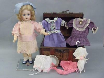 French Bisque Bebe Jumeau Size 1 With Trousseau Reproduction By Susan Dunham