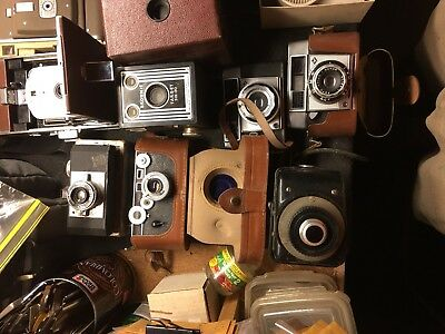 RARE OLD VINTAGE CAMERA LOT - 40s 50s 60s 70s 80s.