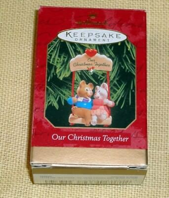Hallmark Keepsake Ornament ~ Our Christmas Together ~ Mice Swinging ~ 1999 *new