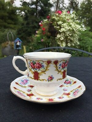 Queen Anne English Tea Cup and Saucer bone china