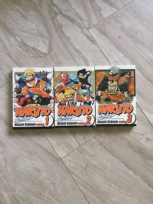 Naruto Manga series three books  #1-3