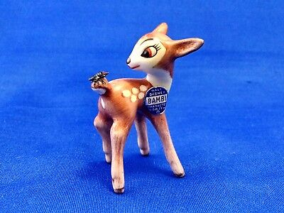 Vintage Disney Goebel DIS013B Bambi with fly (6cm) figurine nr