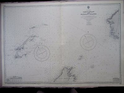 "1966 CANADA St Lawrence Gulf CABOT STRAIGHT Navigation Chart Map 28"" x 41"" C68"