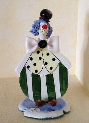Vintage ZamPiva Clown Figurine Signed Made in Italy