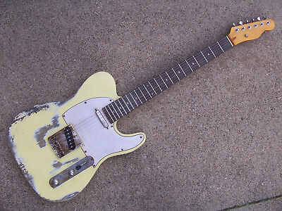 heavy relic distressed electric guitar