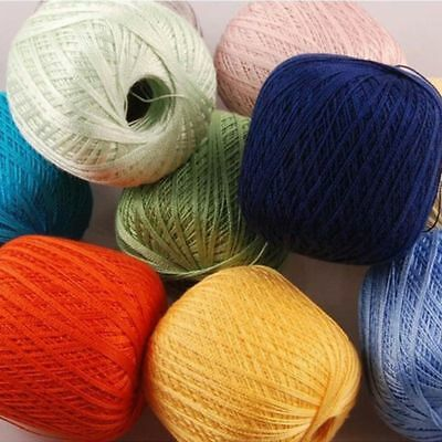 Mercerized Cotton Cord Thread Yarn Embroidery Crochet Knitting Lace DIY Threads