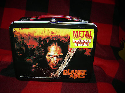 Planet of the Apes metal lunch box w/ thermos 2001 MINT