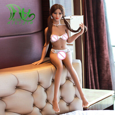 Realistic Sexy Doll 140cm silicone young asiatic smal chest No-Tax Free-shipping