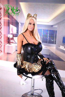 Realistic Sexy Doll 158cm silicone big chest hot blonde dolls sex x adult NO-TAX