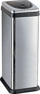 HOME 30 Litre Rectangular Press Top Kitchen Bin - Silver. From Argos on V101158