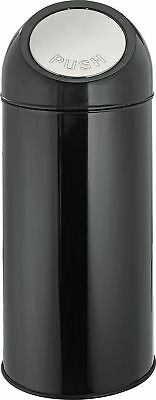 HOME 45 Litre Push Top Kitchen Bin - Black. From the Official Argos Shop V101163