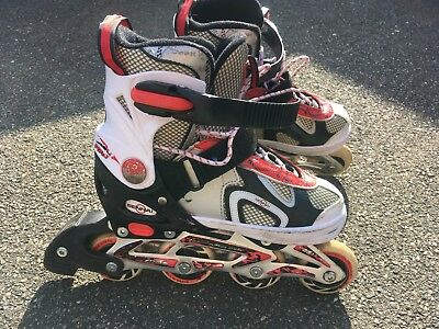 Childrens Adults Kids Boys Girls 4 Wheel Adjustable Inline Skates Roller Blades